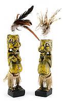 Папуасы пара резные дерево золотые
