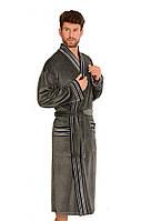 Теплый халат мужской.Польша FOREX de lafense 861 серый