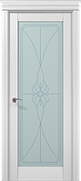 """Двери межкомнатные Папа Карло """"Milenium ML-09 бевелс"""" ясень белый"""