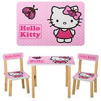 Деревянный столик со стульчиками 501-16 Китти