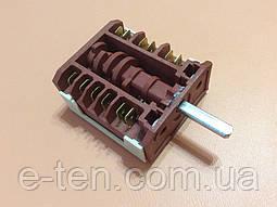 Перемикач семипозиционный I10 / 16А / 250V / Т150 для електроплит (контакти 6+6) AN_EL, Туреччина