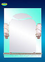 Зеркало 113 зеленое со светильником