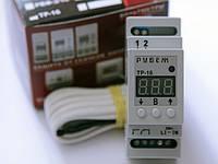 Терморегулятор одноканальный с дискретностью 1°C (нагрев, охлаждение, окно) на DIN-рейку РУБЕЖ ТР-16