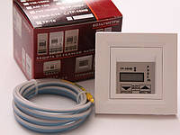 Термостат с таймером РУБЕЖ для теплого пола 16А. Терморегулятор для системы отопления теплый пол РУБЕЖ ТР-16НВ Schneider