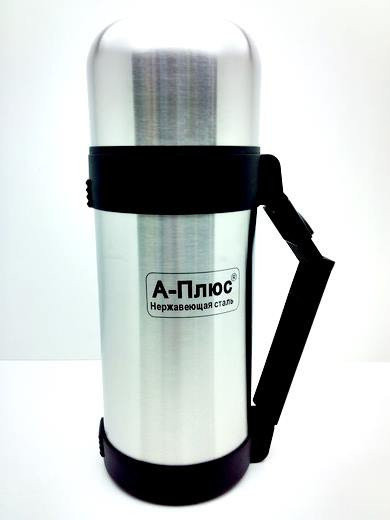 Термос металлический питьевой А-Плюс 1,2 л с металлической колбой