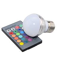 Светодиодная лампа RGB с пультом