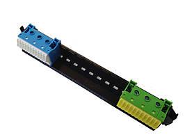 Держатель с клеммами 11xN + 11PE 1.5-4мм2 / 3xN + 3PE 1.5-25 мм2 Hager VZ461