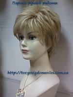 Парик короткий блонд с имитацией кожи головы Galina