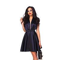 Женское атласное короткое платье Контур
