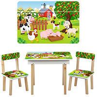 Детский столик со стульчиками и ящичком 503-10