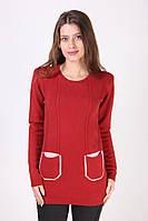 Красивая теплая женская кофта с кармашками оптом и в розницу