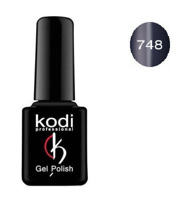 Гель-лак Kodi Moon Light №748 с эффектом кошачий глаз ( черно-синий с шиммером) 8мл