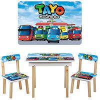 Детский столик со стульчиками и ящичком 503-21