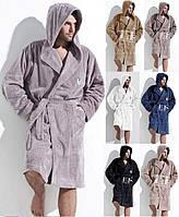 Теплый халат мужской.Nightgown L & L IWO. Польша