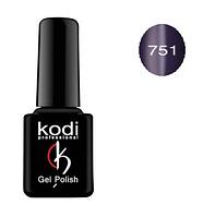 Гель-лак Kodi Moon Light №751 с эффектом кошачий глаз ( сине-фиолетовый, с синим микроблеском) 8мл