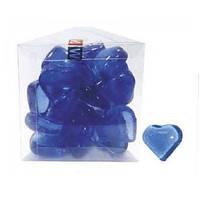 KW Zone Декоративные стеклянные сердечки голубые