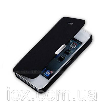 Черный чехол-книжка для Iphone 6/6S на магнитной застежке