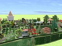 Приусадебный ландшафтный проект объектов площадью до 0,5 га (полный комплект документации)