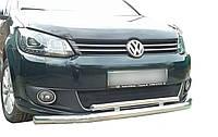 Кенгурятник двойной ус для Volkswagen Caddy2010