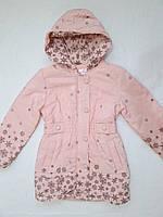 Пальто для девочки демисезонное 6,8,10 лет с капюшоном
