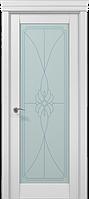 """Двери межкомнатные Папа Карло """"Milenium ML-09 бевелс"""" беылй матовый"""