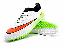 Футбольные сороконожки Nike Mercurial Victory TF White/Red/Black/Lime, фото 1