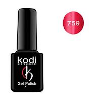 Гель-лак Kodi Moon Light №759 с эффектом кошачий глаз ( малиново-красный с шиммером) 8мл