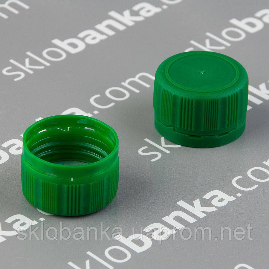 Крышка пластик 28 мм зеленая 25 шт
