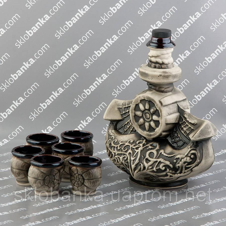 Набор керамический коньячный