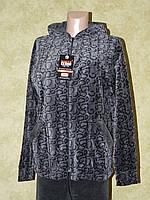 Спортивный костюм женский серый велюр с удлиненной курткой