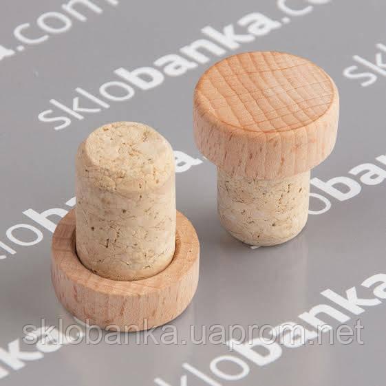 Т пробка 22,5 деревянная капсула