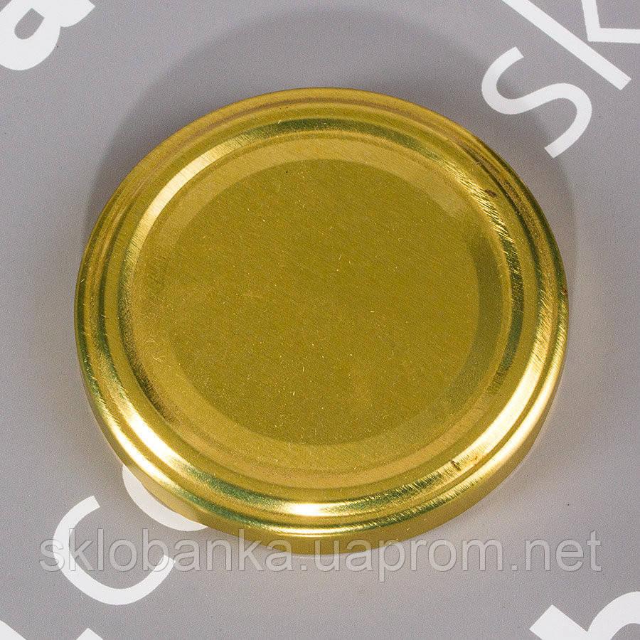 Крышка твист-офф 63 мм золото