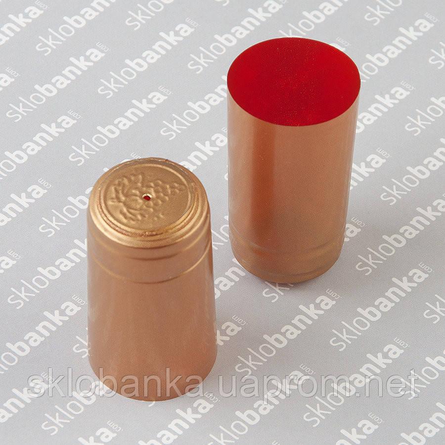 Колпачок термоусадочный для винной бутылки золотой 30*60