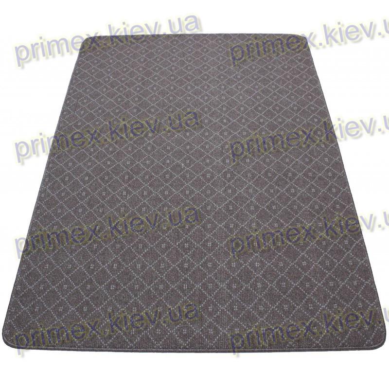 Ворсовой ковер АРИСТОН ПРЕМИУМ (ромбы), цвет темно-коричневый