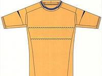 Желто-горячая форма для национальной сборной  Украины по футболу