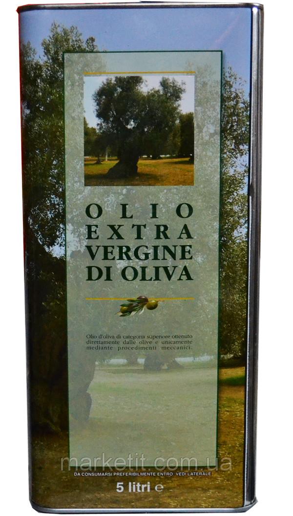 Итальянское оливковое масло первого отжима Olio Extra Vergine di Oliva, ж/б 5 л.