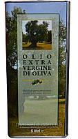 Итальянское оливковое масло первого отжима Olio Extra Vergine di Oliva, ж/б 5 л., фото 1