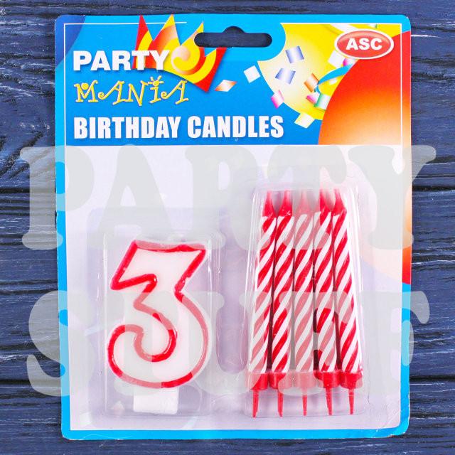 свечи цифры и 10 свечей