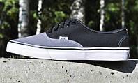 Мужские кеды Vans (цвет серо-черный)