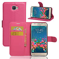 Чехол Samsung J5 Prime / G570F книжка PU-Кожа розовый