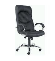 Кресло кожаное для руководителя  «Germes steel chrome» LE, фото 1
