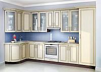 Кухня белый мдф патина под заказ вариант-013