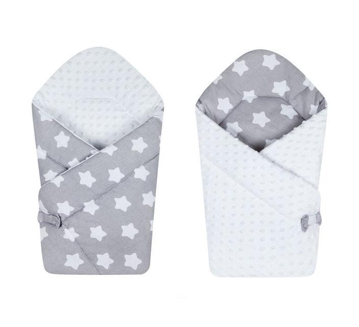 Двустороннее конверт-одеяло на выписку Minky Zvezda 671, Duetbaby