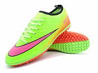 Футбольные сороконожки Nike Mercurial Victory TF Green/Pink/Orange/Black, фото 1