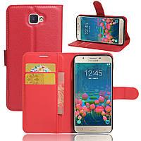 Чехол Samsung J5 Prime / G570F книжка PU-Кожа красный
