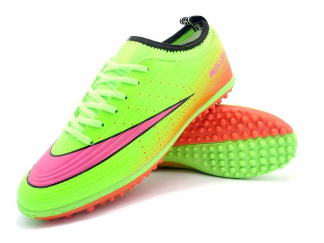 Футбольные сороконожки Nike Mercurial Victory TF Green/Pink/Orange/Black