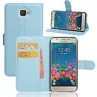 Чехол Samsung J5 Prime / G570F книжка PU-Кожа голубой