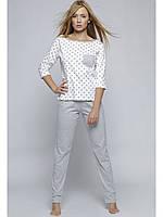 Женская светло-серая пижама со звездочками Piżama Littel Star Sensis