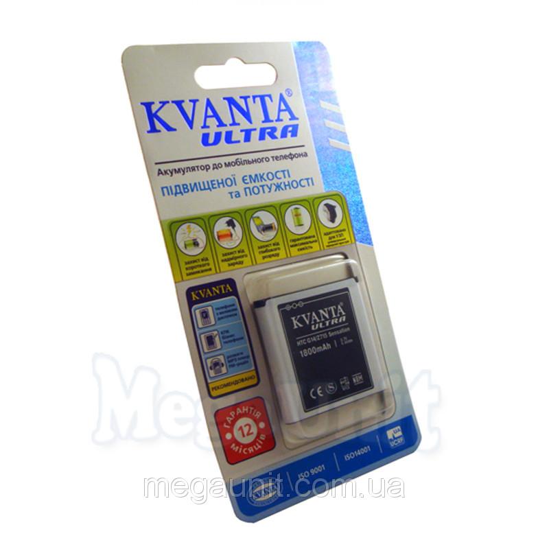 Усиленный аккумулятор KVANTA. HTC G14 Sensation / Evo 3D 1800mAh