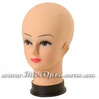 """Манекен силиконовый """"Женская голова с макияжем"""" (20 x 20 x 28 см.)"""